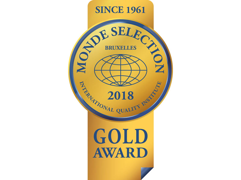 Dios Monde Selection Gold Quality Award 2018
